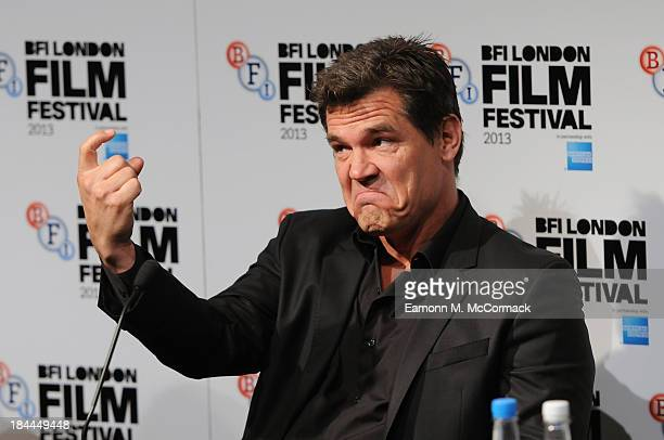 Actor Josh Brolin attends the press conference for Labor Day during the 57th BFI London Film Festival at The Mayfair Hotel on October 14 2013 in...