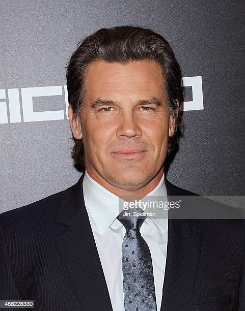 Actor Josh Brolin attends the 'Sicario' New York premiere at Museum of Modern Art on September 14 2015 in New York City