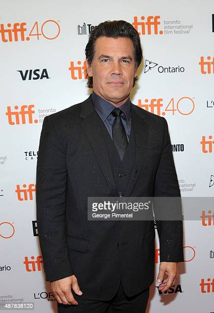 Actor Josh Brolin attends the 'Sicario' premiere during the 2015 Toronto International Film Festival at Princess of Wales Theatre on September 11...