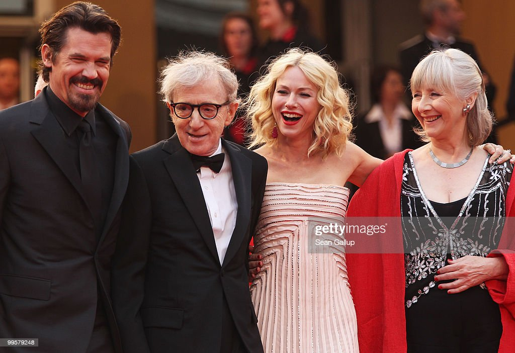 Actor Josh Brolin, director Woody Allen, actress Gemma Jones and actress Lucy Punch attend the 'You Will Meet A Tall Dark Stranger' Premiere at the Palais des Festivals during the 63rd Annual Cannes Film Festival on May 15, 2010 in Cannes, France.