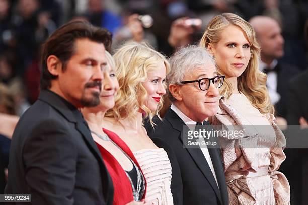 Actor Josh Brolin director Woody Allen actress Naomi Watts actress Gemma Jones and actress Lucy Punch attend the You Will Meet A Tall Dark Stranger...