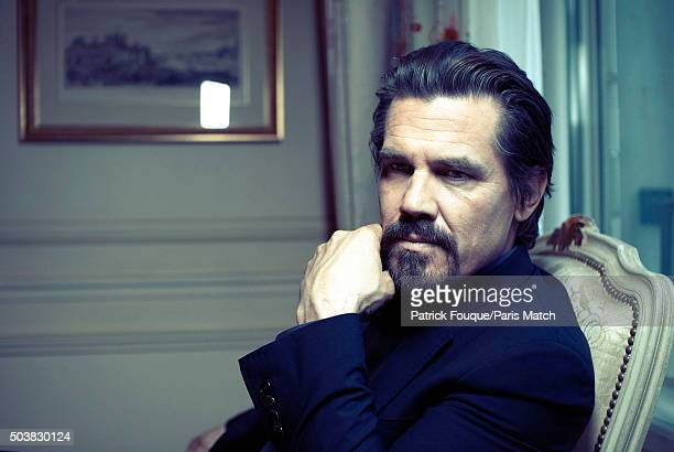 Actor Josh Brolin is photographed for Paris Match on May 11 2012 in Paris France