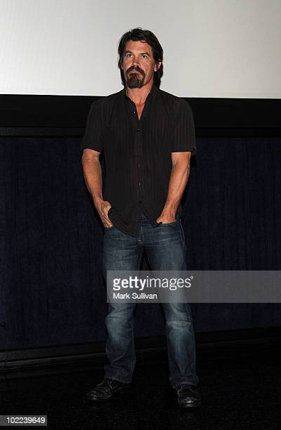 """Actor Josh Brolin speaks at the premiere """"The Tillman Story"""" Q&A during the 2010 Los Angeles Film Festival at Regal Cinemas at LA Live Downtown on..."""