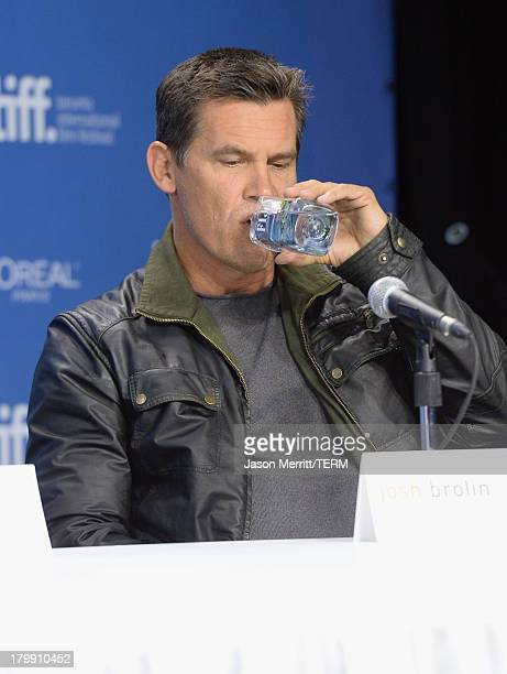 Actor Josh Brolin speaks onstage at 'Labor Day' Press Conference during the 2013 Toronto International Film Festival at TIFF Bell Lightbox on...