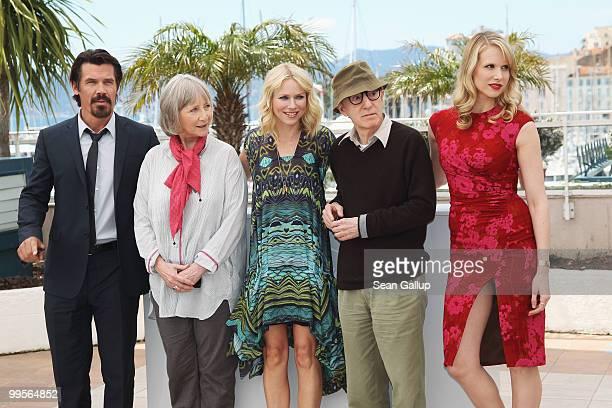Actor Josh Brolin with actresses Gemma Jones Naomi Watts director Woody Allen and actress Lucy Punch attends the You Will Meet A Tall Dark Stranger...
