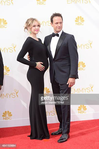 Actor Josh Charles and Sophie Flack attend the 66th Annual Primetime Emmy Awards held at Nokia Theatre LA Live on August 25 2014 in Los Angeles...