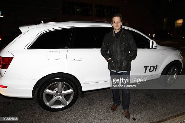 Actor Josh Charles arrives in the Audi Q7 TDI clean diesel to the Project ALS Benefit at Lucky Strike Lanes Lounge on October 29 2009 in New York City