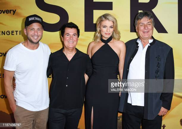 Actor Josh Close creator Producer Simon Fuller model actress and performer Lola Lennox and director producer John Downer attend the Los Angeles...