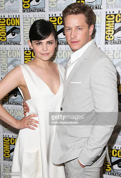 Actor Josh Dallas and actress Ginnifer Goodwin attend the 'Once Upon A Time' press line during ComicCon International 2013 at the Hilton San Diego...