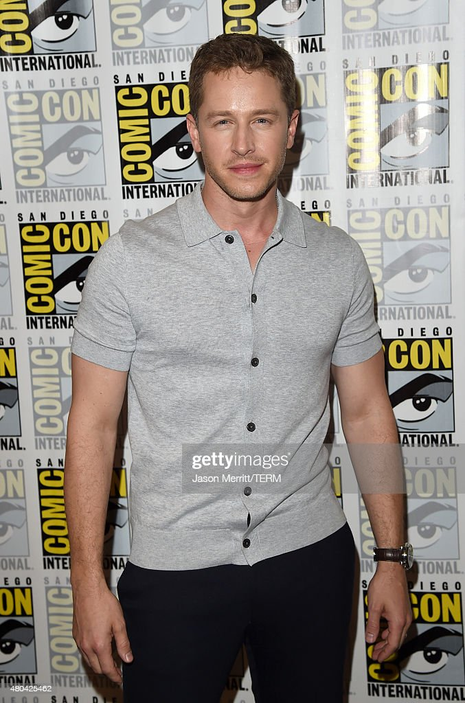Actor Josh Dallas attends the 'Once Upon A Time' press room during Comic-Con International 2015 at the Hilton Bayfront on July 11, 2015 in San Diego, California.