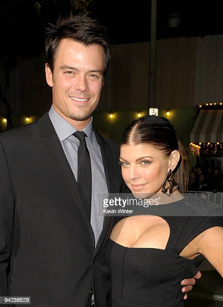 Actor Josh Duhamel and actress Stacy Fergie Ferguson arrive at the Los Angeles premiere of the Weinstein Company's NINE at the Mann Village Theatre...