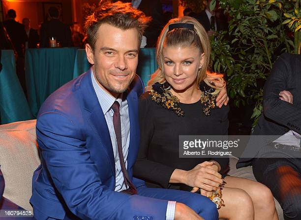 Actor Josh Duhamel and actress/singer Fergie attend the premiere of Relativity Media's 'Safe Haven' after party at The Terrace At Hollywood Highland...