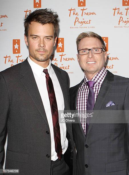 Actor Josh Duhamel and Charles Robbins Executive Director CEO of The Trevor Project attend Trevor Live An Evening Benefiting The Trevor Project at...
