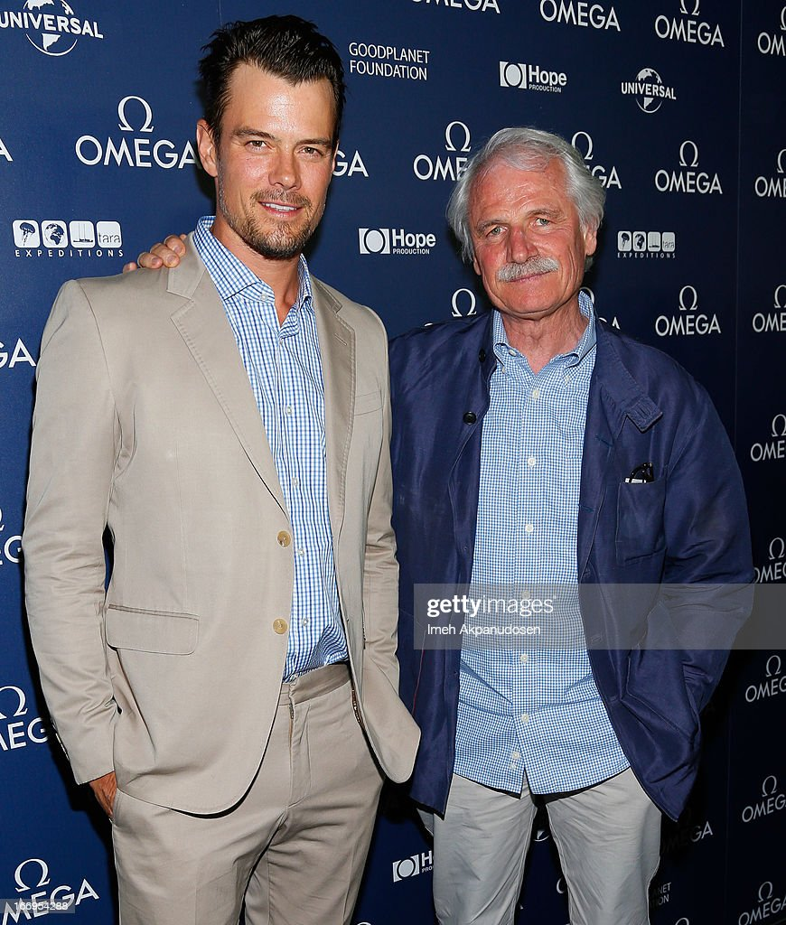 Actor Josh Duhamel (L) and director Yann Arthus-Bertrand attend the premiere of 'Planet Ocean' at Pacific Design Center on April 18, 2013 in West Hollywood, California.
