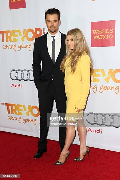 Actor Josh Duhamel and musician Fergie attends 'TrevorLIVE LA' honoring Jane Lynch and Toyota for the Trevor Project at Hollywood Palladium on...