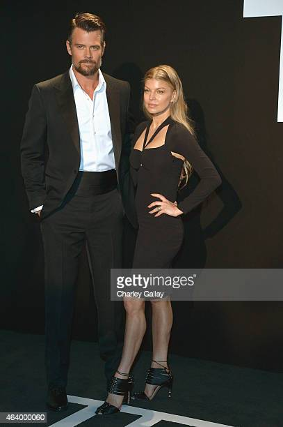Actor Josh Duhamel and recording artist Fergie both wearing TOM FORD attends the TOM FORD Autumn/Winter 2015 Womenswear Collection Presentation at...
