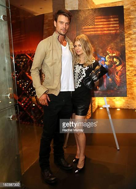 Actor Josh Duhamel and Singer Fergie attend CARTELART presents Mutual Consent Featuring Jordi Molla Antonio del Prete Mark Evans And Harry Abbouon...