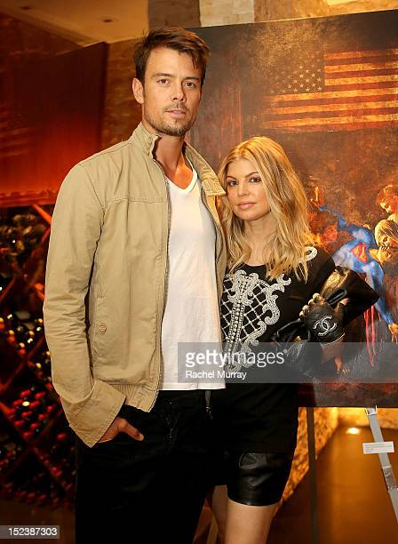 Actor Josh Duhamel and Singer Fergie attend CARTELART presents Mutual Consent Featuring Jordi Molla Antonio del Prete Mark Evans And Harry Abbouon...