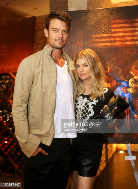 Actor Josh Duhamel and Singer Fergie attend CARTELART presents 'Mutual Consent' Featuring Jordi Molla Antonio del Prete Mark Evans And Harry Abbouon...
