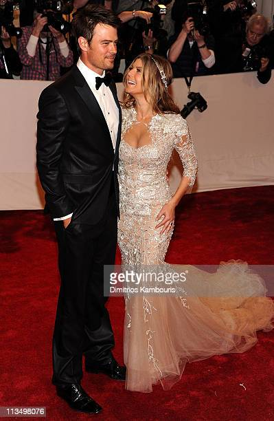 Actor Josh Duhamel and singer Fergie attend the Alexander McQueen Savage Beauty Costume Institute Gala at The Metropolitan Museum of Art on May 2...