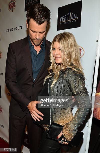 Actor Josh Duhamel and singer/actress Fergie arrive at the premiere of Vertical Entertainment's 'Scenic Route' at Chinese 6 Theater Hollywood on...