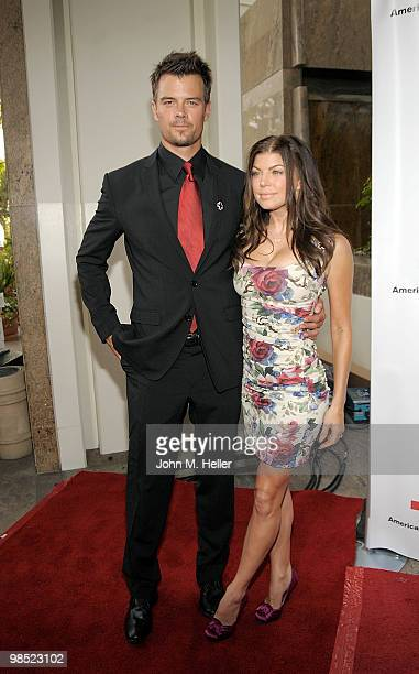 Actor Josh Duhamel and singer/actress Fergie attend the Annual Red Cross of Santa Monica's Annual Red Tie Affair at the Fairmont Miramar Hotel on...
