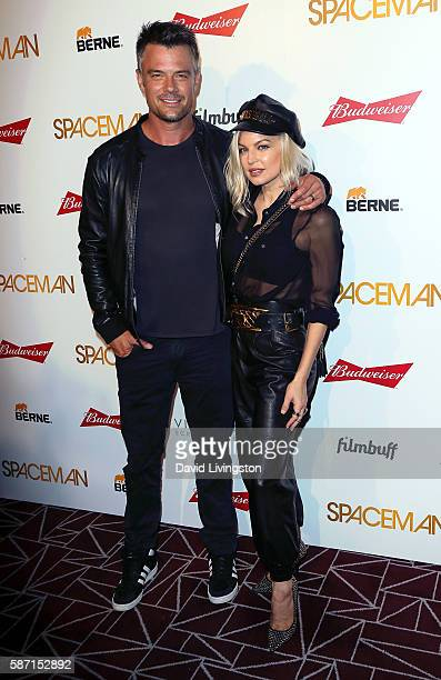 Actor Josh Duhamel and wife singer Fergie attend the premiere of Orion Pictures' 'Spaceman' at The London Hotel on August 7 2016 in West Hollywood...