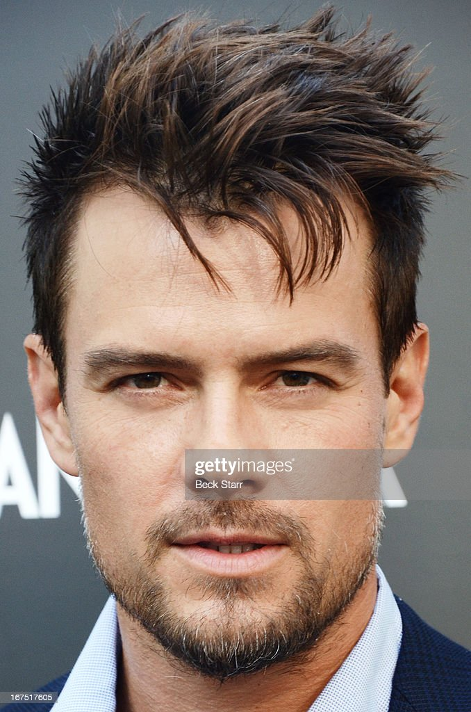 Actor Josh Duhamel arrives at the Giorgio Armani pary to celebrate Paris Photo Los Angeles Vernissage opening night at Paramount Studios on April 25, 2013 in Hollywood, California.