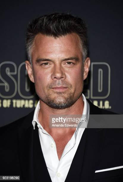 Actor Josh Duhamel arrives at the premiere of USA Network's 'Unsolved The Murders of Tupac and The Notorious BIG' at Avalon on February 22 2018 in...