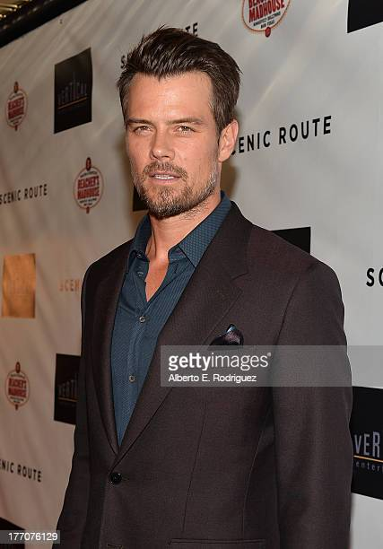 Actor Josh Duhamel arrives at the premiere of Vertical Entertainment's 'Scenic Route' at Chinese 6 Theater Hollywood on August 20 2013 in Hollywood...