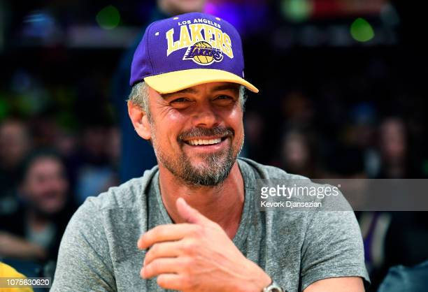 Actor Josh Duhamel attends a basketball game between the Los Angeles Clippers and the Los Angeles Lakers at Staples Center on December 28 2018 in Los...