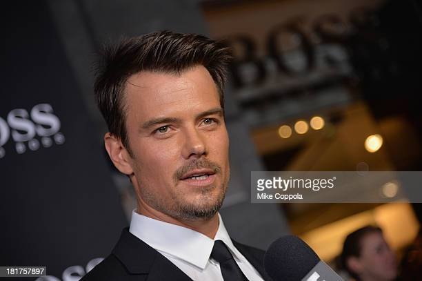 Actor Josh Duhamel attends HUGO BOSS celebrates Columbus Circle BOSS flagship opening featuring premiere of 'Anthropocene' by Marco Brambilla on...