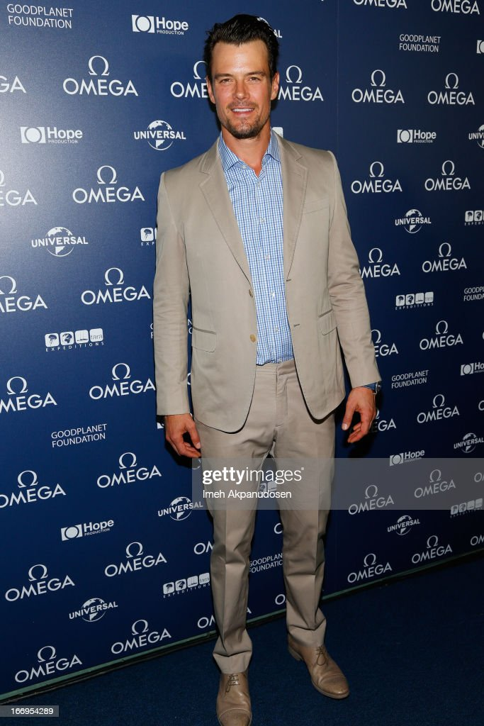 Actor Josh Duhamel attends the premiere of 'Planet Ocean' at Pacific Design Center on April 18, 2013 in West Hollywood, California.