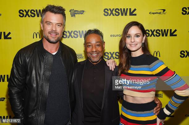 Actor Josh Duhamel director/actor Giancarlo Esposito and actress Sarah Wayne Callies attend the This Is Your Death premiere 2017 SXSW Conference and...
