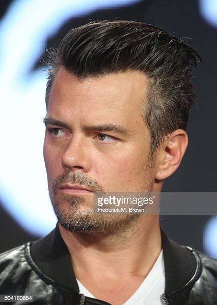 Actor Josh Duhamel speaks onstage during the 112263 panel as part of the hulu portion of the 2016 Television Critics Association Winter Tour at...