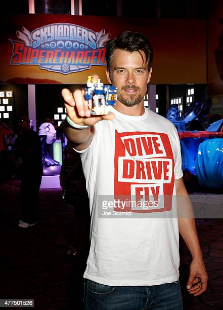 Actor Josh Duhamel visits Activision's Skylanders SuperChargers booth during E3 2015 at Los Angeles Convention Center on June 17, 2015 in Los...