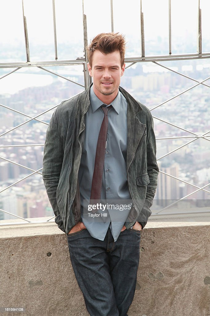 Actor Josh Duhamel visits The Empire State Building on February 12, 2013 in New York City.