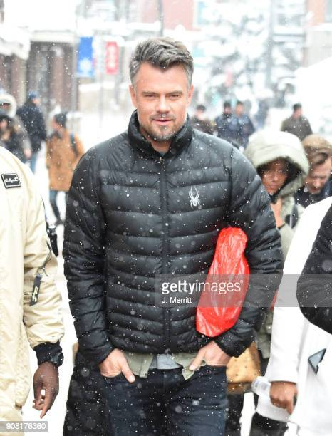 Actor Josh Duhamel walks in Park City on January 20 2018 in Park City Utah
