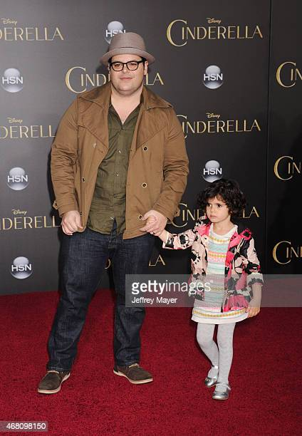 Actor Josh Gad and daughter arrive at the World Premiere of Disney's 'Cinderella' at the El Capitan Theatre on March 1, 2015 in Hollywood, California.