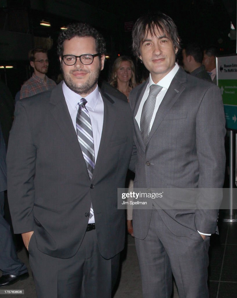 Actor Josh Gad and director Joshua Michael Stern attend 'Jobs' New York Premiere at MOMA on August 7, 2013 in New York City.