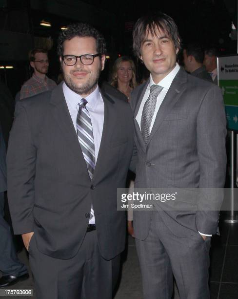 """Actor Josh Gad and director Joshua Michael Stern attend """"Jobs"""" New York Premiere at MOMA on August 7, 2013 in New York City."""