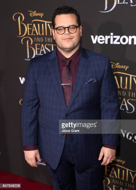 Actor Josh Gad arrives for the world premiere of Disney's liveaction 'Beauty and the Beast' at the El Capitan Theatre in Hollywood as the cast and...