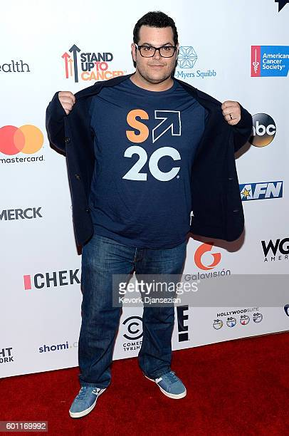 Actor Josh Gad attends Hollywood Unites for the 5th Biennial Stand Up To Cancer A Program of The Entertainment Industry Foundation at Walt Disney...