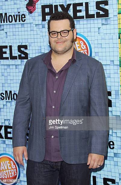 Actor Josh Gad attends the 'Pixels' New York premiere at Regal EWalk on July 18 2015 in New York City