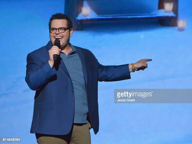 Actor Josh Gad of OLAF'S FROZEN ADVENTURE took part today in the Walt Disney Studios animation presentation at Disney's D23 EXPO 2017 in Anaheim...