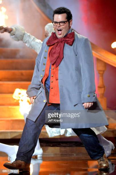 Actor Josh Gad performs onstage during the 2017 MTV Movie And TV Awards at The Shrine Auditorium on May 7 2017 in Los Angeles California