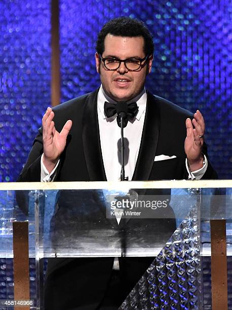 Actor Josh Gad speaks onstage during the BAFTA Los Angeles Jaguar Britannia Awards presented by BBC America and United Airlines at The Beverly Hilton...