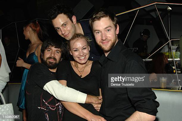 Actor Josh Gomez actor Jonathan Sadowski actress Yvonne Strahousky and Lee Jones attend the Maroon 5 after party at MOON Nigthclub at The Palms...