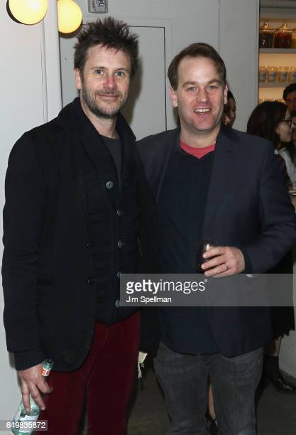 Actor Josh Hamilton and comedian Mike Birbiglia attend the Metrograph 1st year anniversary party at Metrograph on March 8 2017 in New York City