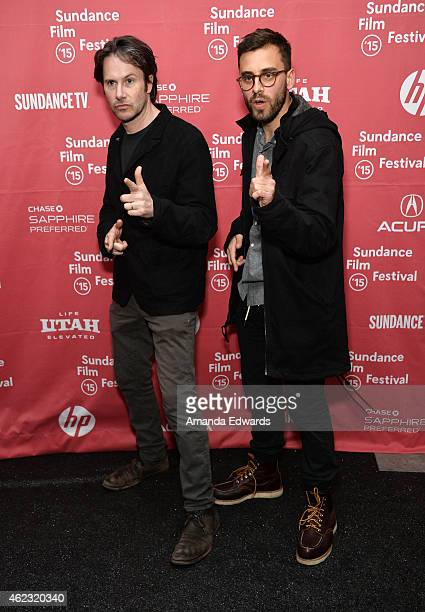Actor Josh Hamilton and director Matt Sobel attend the Take Me To The River premiere during the 2015 Sundance Film Festival on January 26 2015 in...